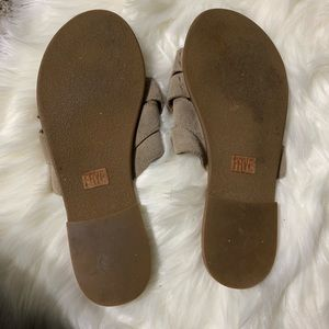 Frye Shoes - Frye suede tan strappy leather sandals size 9